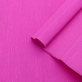 Бумага креп, простой, цвет розовый, 0,5 х 2,5 м Ош