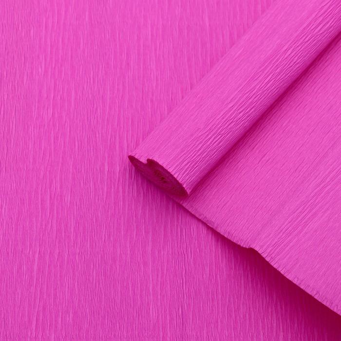 Бумага креп, простой, цвет розовый, 0,5 х 2,5 м