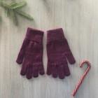 Перчатки женские, цвет фиолетовый, размер 18