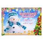 """Наклейка """"Новогоднее шампанское"""" снеговик"""