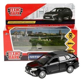 Машина металл Mitsubishi outlander, 12 см открывающиеся двери, инерционная, цвет чёрный