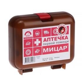 Автомобильная аптечка первой помощи №1 'Мицар' дорожная, футляр 5М Ош