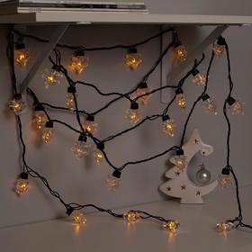 Гирлянда 'Нить' улично-комнатная с насадками 'Ель большая', 5м, LED(IP44)-40-220V, 8 режимов, нить тёмная, свечение жёлтое Ош
