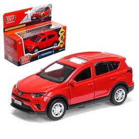 Машина металлическая TOYOTA RAV 4, 12 см, открывающиеся двери, инерционная, цвет красный