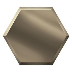 Зеркальная бронзовая плитка «Сота» с фацетом 10 мм