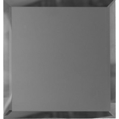 Квадратная зеркальная графитовая матовая плитка с фацетом 10 мм, 100х100 мм