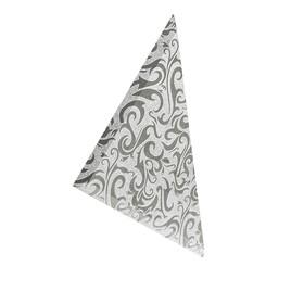 Плитка треугольная зеркальная серебряная «Алладин-2»