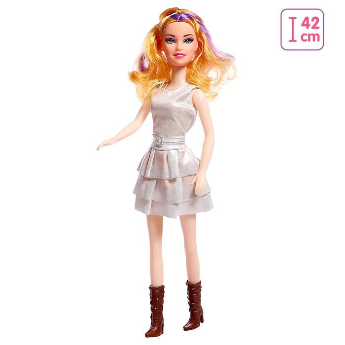 Кукла Наташа в платье, высота 41 см, МИКС