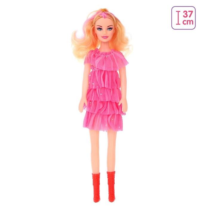 Кукла Оля в платье, высота 41 см, МИКС