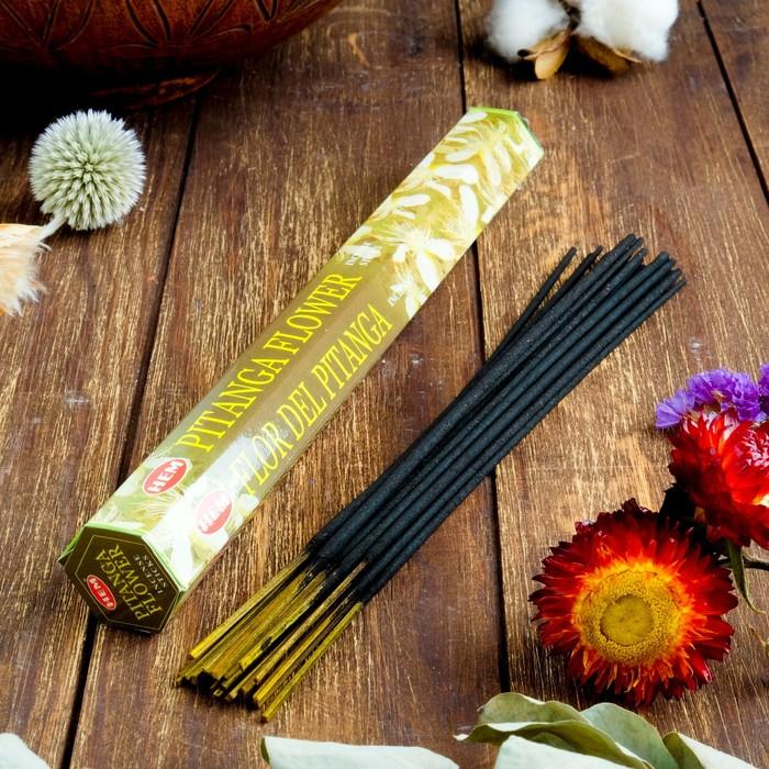"""Благовония HEM """"Pitanga Flower. Суринамская Вишня"""", 20 палочек в упаковке, шестигранник"""