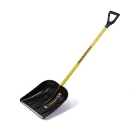 Лопата пластиковая, ковш 400 × 410 мм, с металлической планкой, металлический черенок, с ручкой, СПРИНТ «Памир» Ош