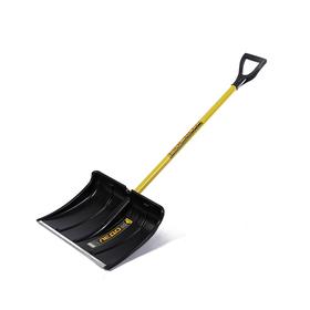 Лопата пластиковая, ковш 370 × 500 мм, с металлической планкой, металлический черенок, с ручкой, СПРИНТ «Ледо» Ош