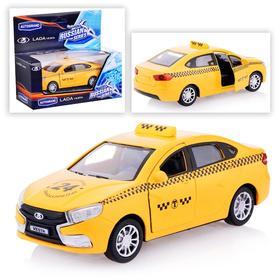 Машина металлическая Lada Vesta «Такси» открываются передние двери, инерционная, 1:36