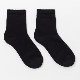 Носки детские махровые цвет чёрный, р-р 18-20