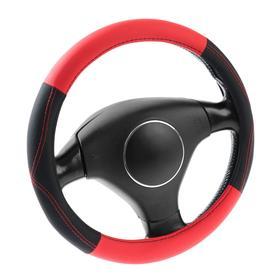Оплетка на руль C2R С964-BR, размер M, чёрно-красный