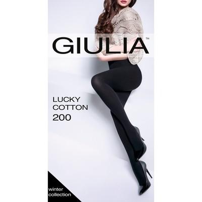 Колготки женские GIULIA LUCKY COTTON, 200 den, цвет nero, размер 2 - Фото 1