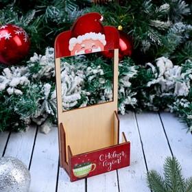 """Рамка на розетку подставка для телефона """"С Новым Годом, Дедушка Мороз"""" 24×10×4 см"""