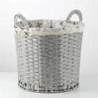 Корзина универсальная плетёная «Полянка», 43×40×41,6 см, цвет серый