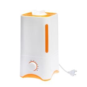 Увлажнитель воздуха LuazON LHU-05, ультразвуковой, 3 л, 25 Вт, бело-оранжевый Ош