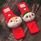 """Новый год,подарочный набор: браслетики + носочки- погремушки """"Дед мороз"""", р-р носочков 10-14 (10-14 см) - Фото 5"""
