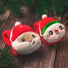 """Новый год,подарочный набор: браслетики + носочки- погремушки """"Дед мороз"""", р-р носочков 10-14 (10-14 см) - Фото 6"""