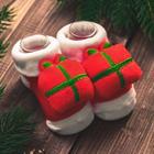 Новогодний подарочный набор: браслетики + носочки-погремушки «Мой 1 новый год», р-р носочков 10-14 (10-14см) - Фото 3