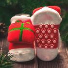 Новогодний подарочный набор: браслетики + носочки-погремушки «Мой 1 новый год», р-р носочков 10-14 (10-14см) - Фото 4