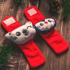 Новогодний подарочный набор: браслетики + носочки-погремушки «Мой 1 новый год», р-р носочков 10-14 (10-14см) - Фото 5