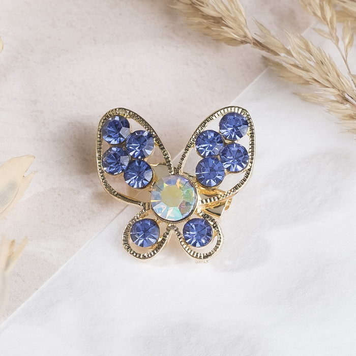 Брошь Ассорти бабочек порхающих, цвет МИКС
