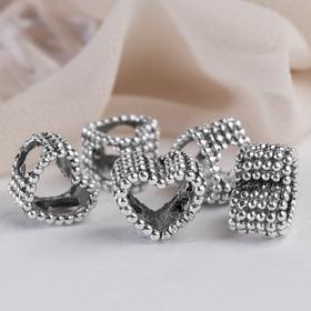 Талисман 'Сердце' рамка, цвет серебро Ош