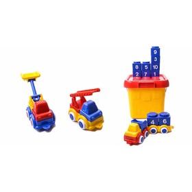 Игровой набор Vikingtoys «Построй машинки», с большим ведром