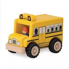 Деревянная игрушка Miniworld «Школьный автобус»