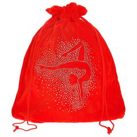 Чехол для мяча «Гимнастка», цвет красный, 35 × 36 см Ош