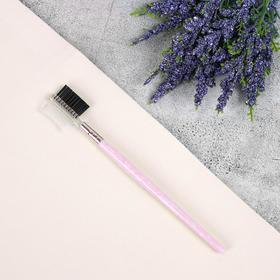 Щёточка-расчёска для бровей и ресниц «SAND», 16,2 см, цвет МИКС Ош