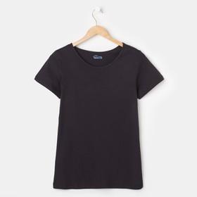 Футболка женская BASIC, цвет черный, размер 42-44 Ош