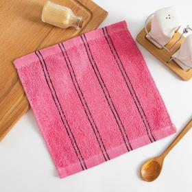 Полотенце кухонное  Экономь и Я Семейное цв. розовый, 25*25 см 100% хлопок Ош