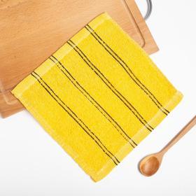 Полотенце кухонное  Экономь и Я Семейное цв. желтый, 25*25 см 100% хлопок Ош