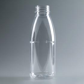 Бутылка молочная 0,5 л 'Универсал', прозрачная, с широким горлышком 0,38 мм Ош