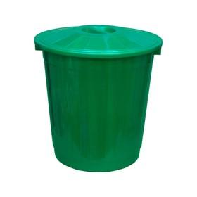 Бак хозяйственно-бытовой, 50 л, с крышкой, зелёный Ош