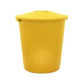 Бак хозяйственно-бытовой, 80 л, с крышкой, жёлтый Ош