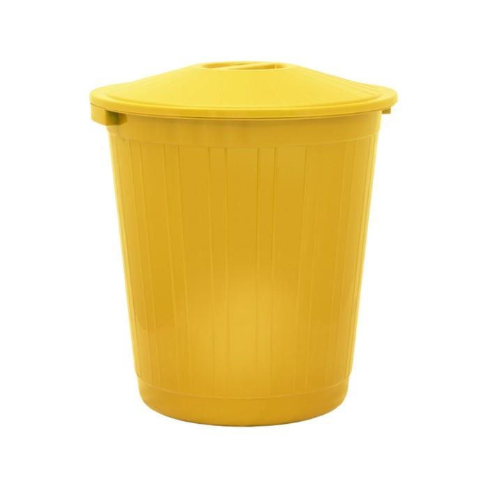 Бак хозяйственно-бытовой, 80 л, с крышкой, жёлтый