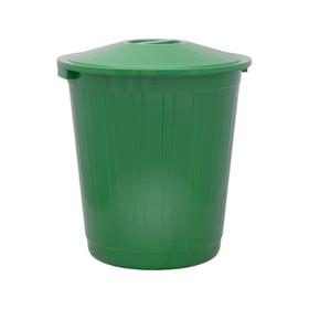 Бак хозяйственно-бытовой, 80 л, с крышкой, зелёный Ош