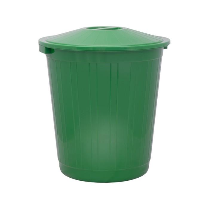 Бак хозяйственно-бытовой, 80 л, с крышкой, зелёный