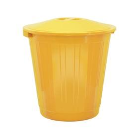Бак хозяйственно-бытовой, 70 л, с крышкой, жёлтый Ош