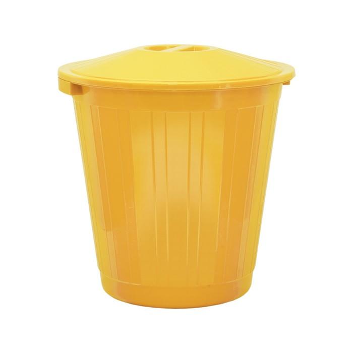 Бак хозяйственно-бытовой, 70 л, с крышкой, жёлтый