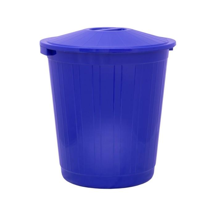 Бак хозяйственно-бытовой, 80 л, с крышкой, синий