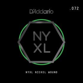 Отдельная струна для электрогитары Elixir NYNW072 NYXL никелированная, 072, D'Addario