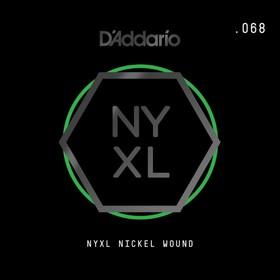Отдельная струна для электрогитары Elixir NYNW068 NYXL никелированная, 068, D'Addario