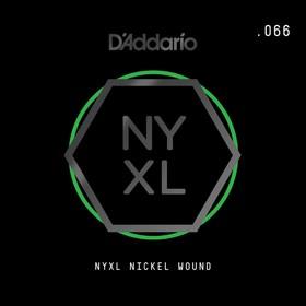 Отдельная струна для электрогитары Elixir NYNW066 NYXL никелированная, 066, D'Addario
