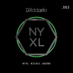 Отдельная струна для электрогитары Elixir NYNW063 NYXL никелированная, 063, D'Addario